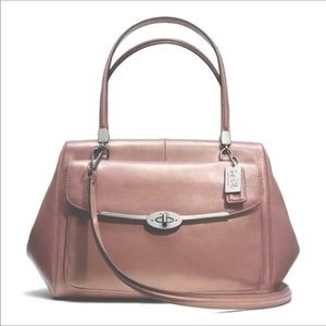 RARE! Coach Madison Rose Gold Leather Convertible